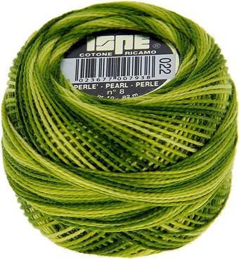 Fil coton perlé 8 ISPE Vert Pomme 22