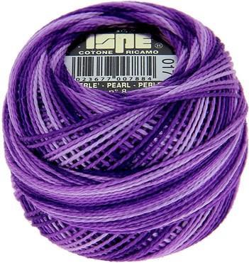 Fil coton perlé 8 ISPE Violet 17