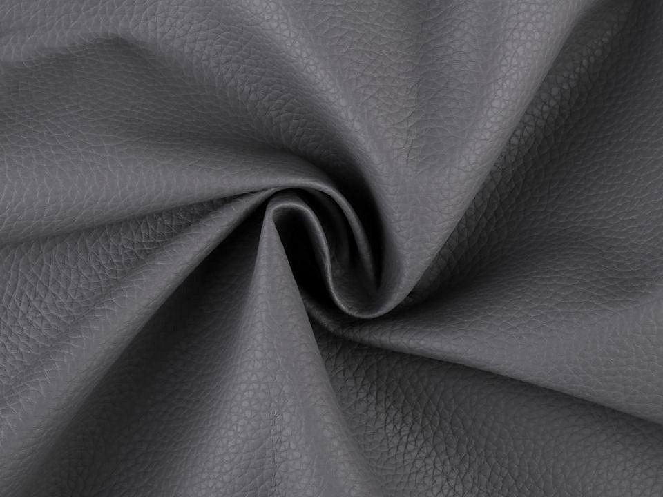 Coupon simili cuir gris fonce 50x70 cm