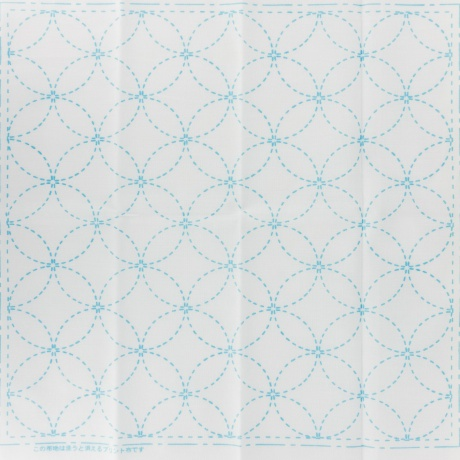 Coupon tissu sashiko blanc les 7 tresors harmonie et satisfaction