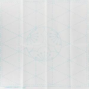 Coupon tissu sashiko blanc motif de l ume