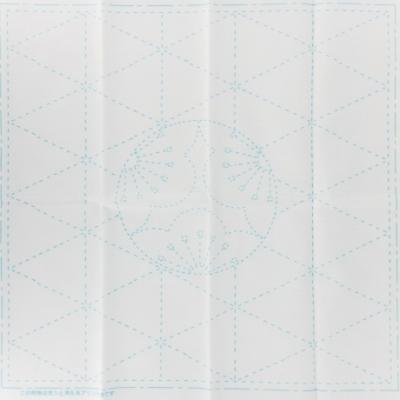 Coupon Tissu Sashiko Blanc Feuille de Motif de l'ume