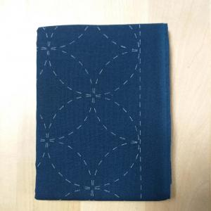 Coupon tissu sashiko navy h203 4