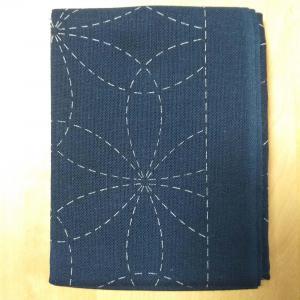 Coupon tissu sashiko navy h212 2