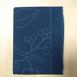 Coupon tissu sashiko navy h213 2