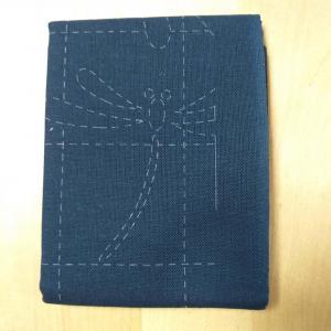 Coupon tissu sashiko navy h240 2