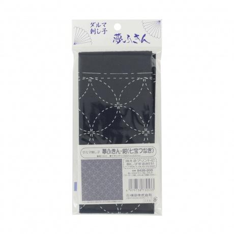 Coupon tissu sashiko navy les 7 tresors harmonie et satisfaction 1