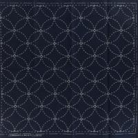 Coupon tissu sashiko navy les 7 tresors harmonie et satisfaction