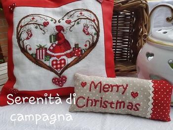 Cuori Merry Christmas CV108 Serinità di Campagna