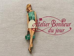 Dame sac vert VI-18 - Atelier Bonheur du Jour