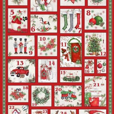 Tissu Patchwork December Magic Advent Calendar
