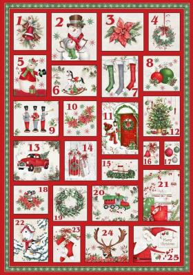 Tissu Patchwork December Magic Advent Calendar