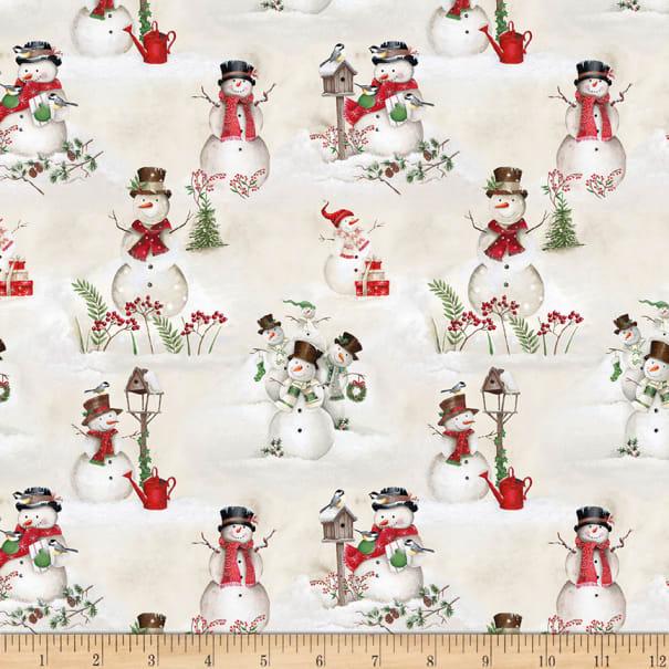 December magic scenic snowman ecru 895 023