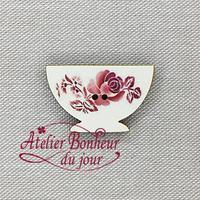 Bol rouge Digoin DI-06 - Atelier Bonheur du jour