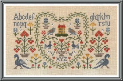 New Antique Sampler DM33 Jardin Privé