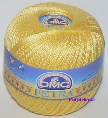 Dmc petra crochet cotton perle no 5 yellow 5727 6441 p
