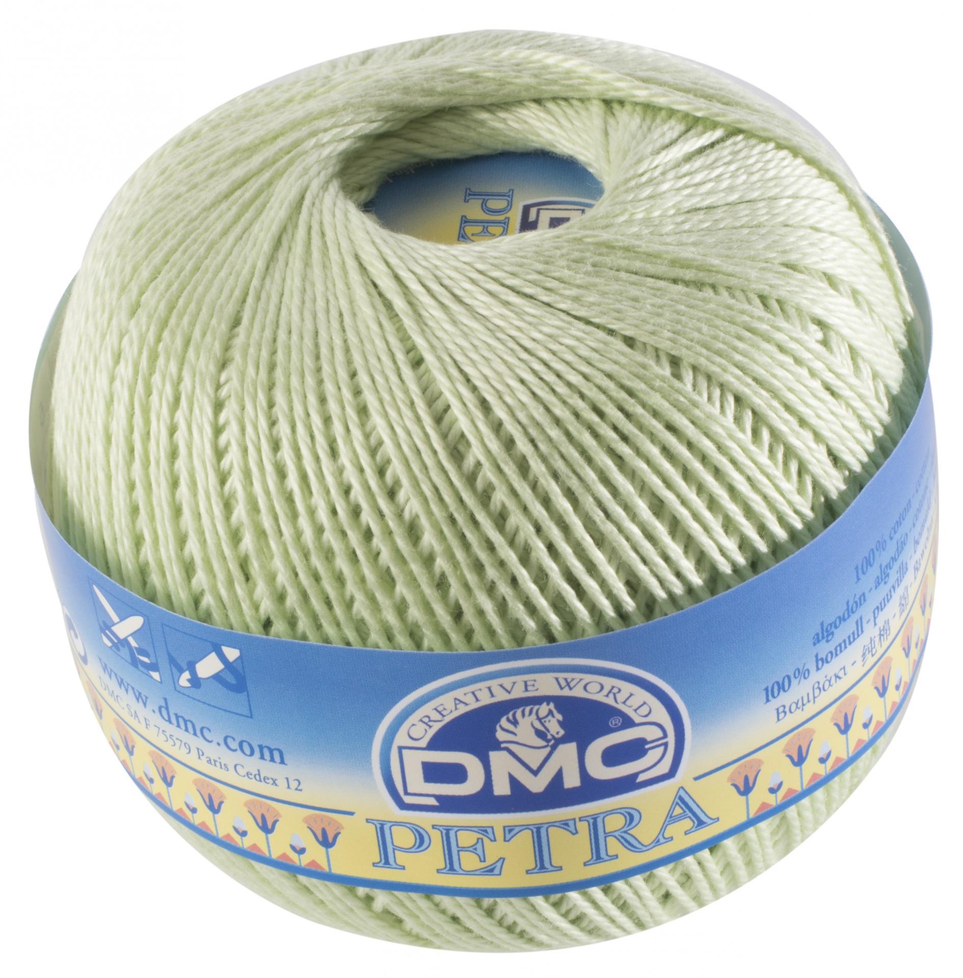 Dmc petra n 5 fil de coton unicolore 5772 pistache