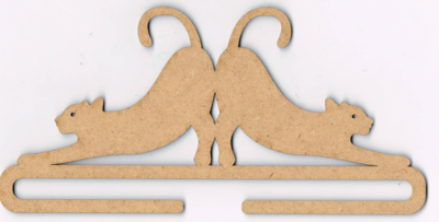 Cintre Duo de Chats mdf naturel 13,5 cm