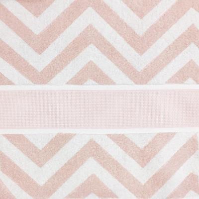 Serviette de douche - Rose Poudré Zigzag 70x140 cm Rico Désign