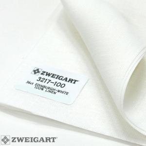Coupon Toile à Broder Zweigart  de Lin Edinburgh 3217 14 Fils Blanc 100-50x40 cm