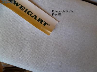 Toile à Broder Zweigart  de Lin Edinburgh 3217 14 Fils 52 Naturel (Flax)