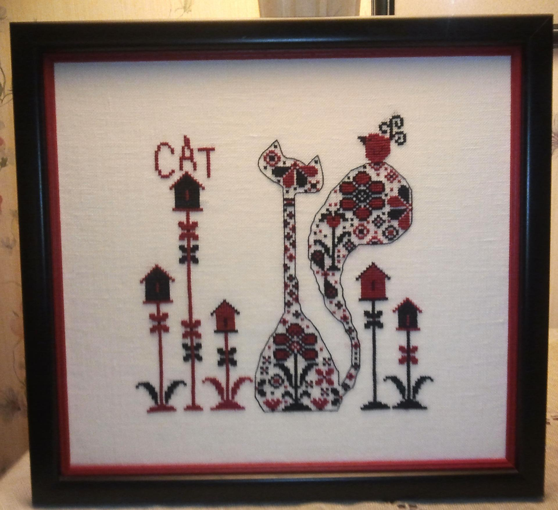 El gato tauado rouge encadre 2