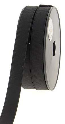 Elastique cotele noir 20 mm