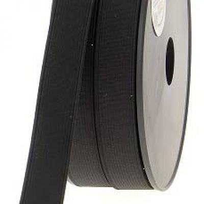 Élastique cotelé noir 20mm