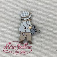 Sunbonnet Garçon Arrosoir EN-28 - Atelier Bonheur du jour