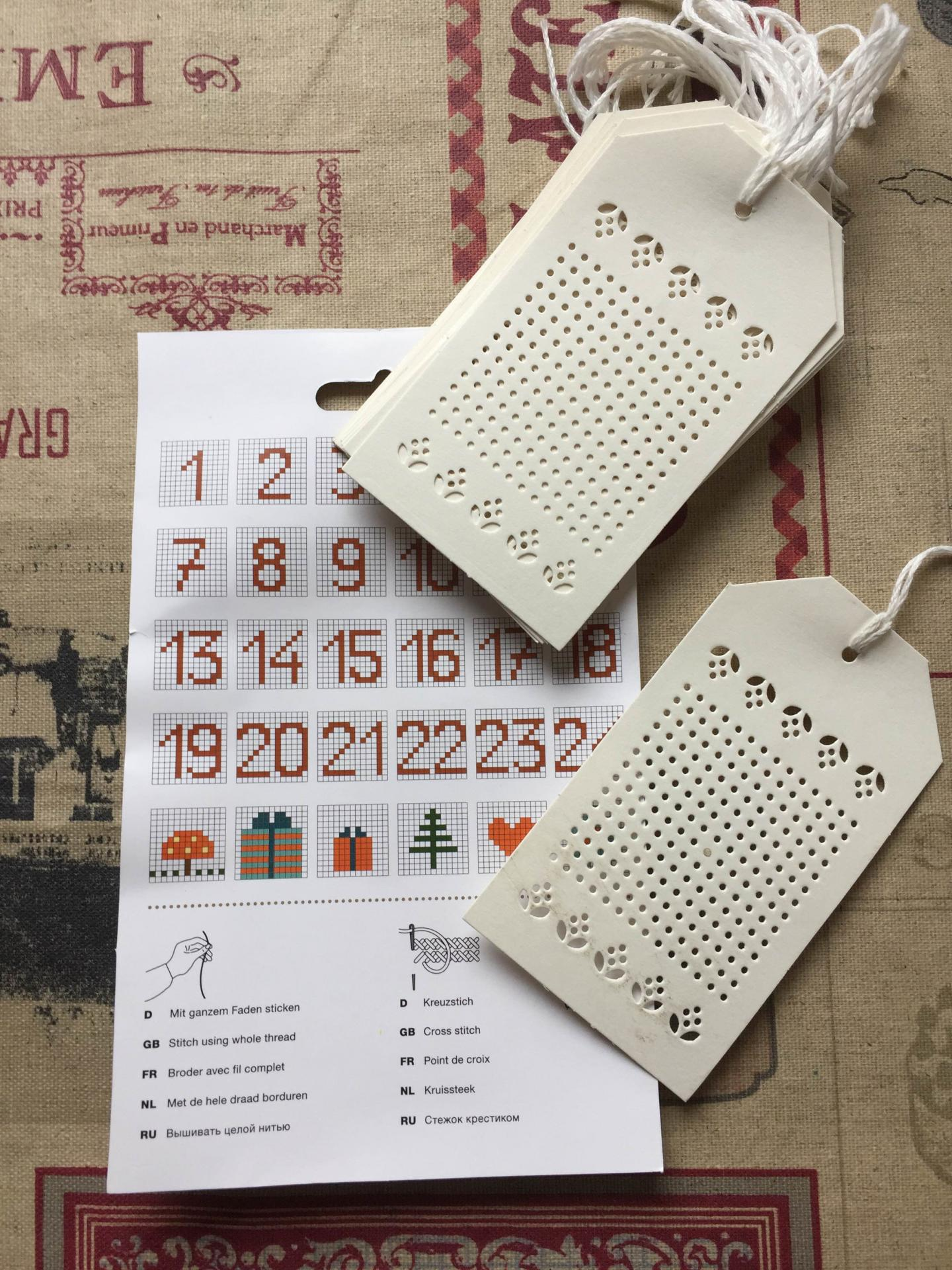 Etiquettes a broder carton blanc