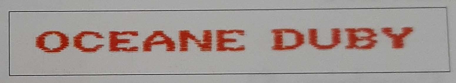 Etiquettes nom et prenom brodees pour vetements rouge modele g