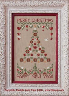 Folk Art Christmas Tree F144 Filigram