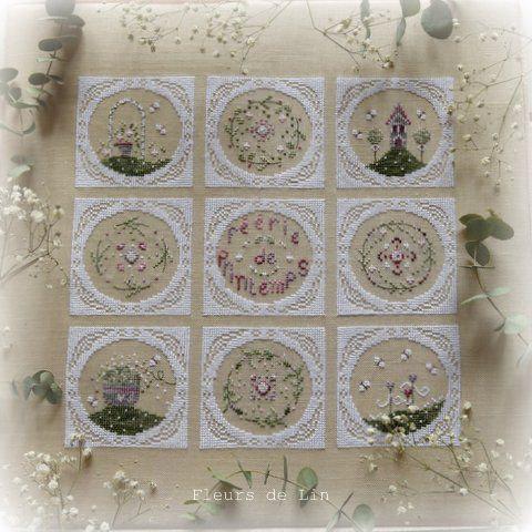 Feerie de printemps fleurs de lin