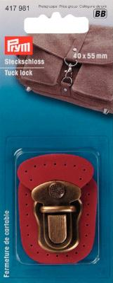Fermeture de cartable à coudre rouge