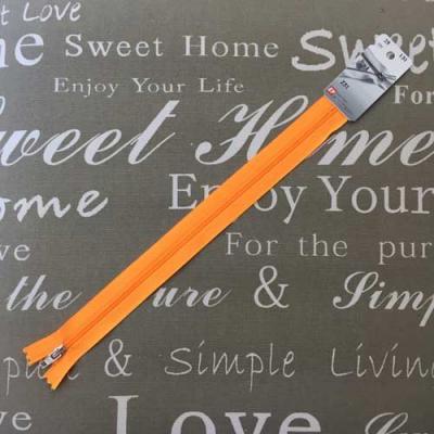 Fermeture non séparable orange Fluo 25cm