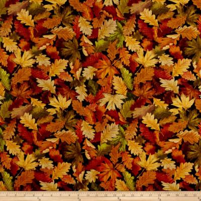 Tissu Patchwork Feuilles de la Forêt 'Kanvas Nature Walk Forest Foliage Multi'