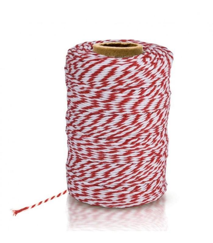 Ficelle bicolore rouge et blanc