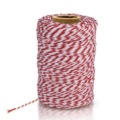 Ficelle Bicolore Blanc et Rouge
