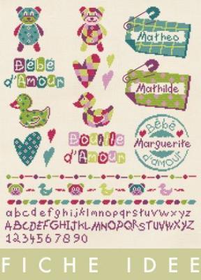 Fiche 'Idée Naissance B010 Lilipoints