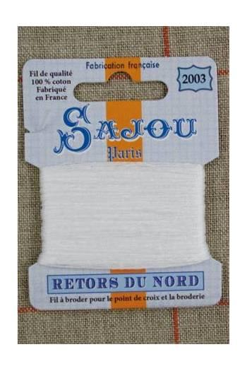 Fil a broder retors du nord sajou carte 20 m n2003 grand blanc