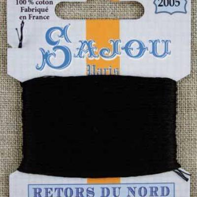 Fil à broder Retors du Nord Sajou carte 20 m - n°2005 Noir