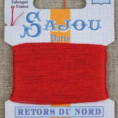 Fil à broder Retors du Nord Sajou carte 20 m - n°2030 Rouge