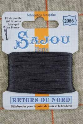 Fil à broder Retors du Nord Sajou carte 20 m - n°2086 Charbon