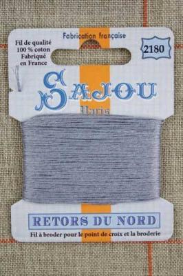 Fil à broder Retors du Nord Sajou carte 20 m - n°2180 Métal