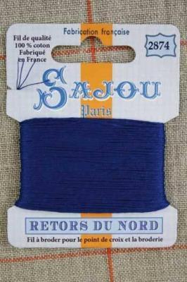 Fil à broder Retors du Nord Sajou carte 20 m - n°2874 Gitane