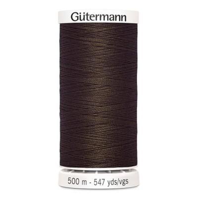 Fil à Coudre 100% Polyester 500m Coloris Marron Clair 694 Guttermannnn