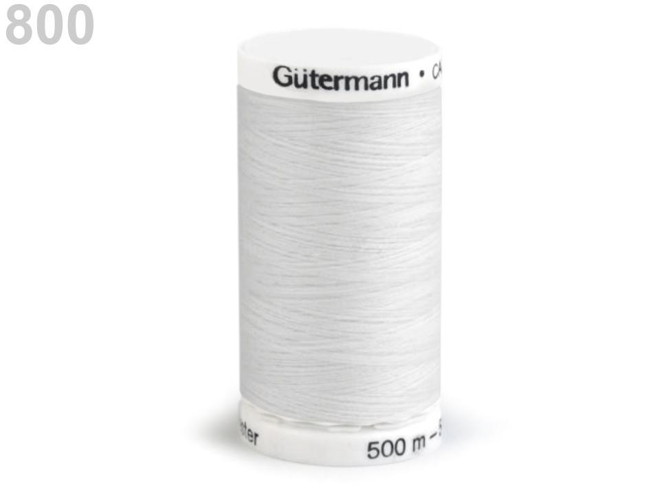 Fil polyester guttermann 500m blanc 800