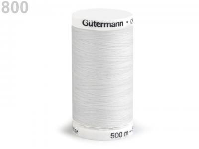 Fil à Coudre 100% Polyester 500m Coloris Blanc 800 Guttermann