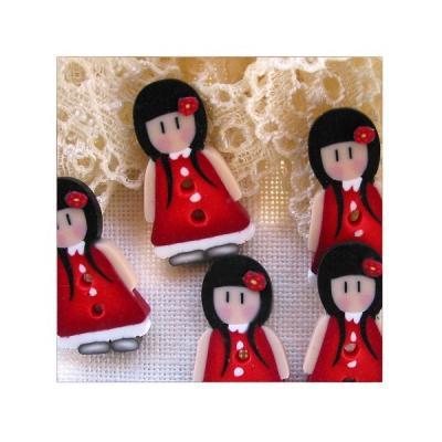 Fillette robe rouge Gorjuss