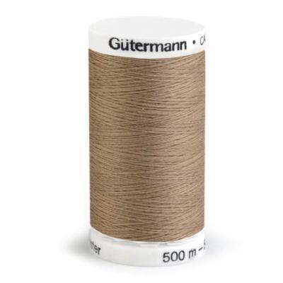 Fil à Coudre 100% Polyester 500m Coloris Brun 208 Guttermann